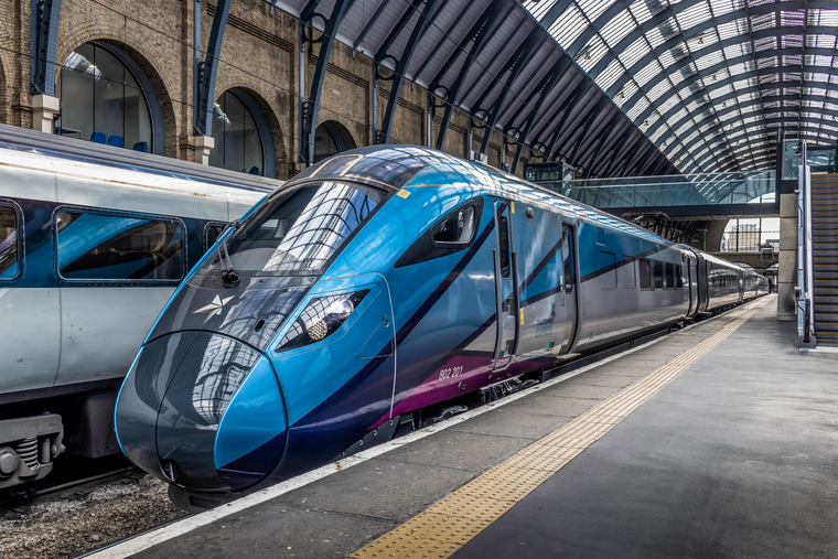 TransPennine Express Train at Train Station