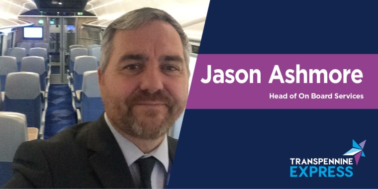 Jason Ashmore's intro image. He's the Head of On Board Services