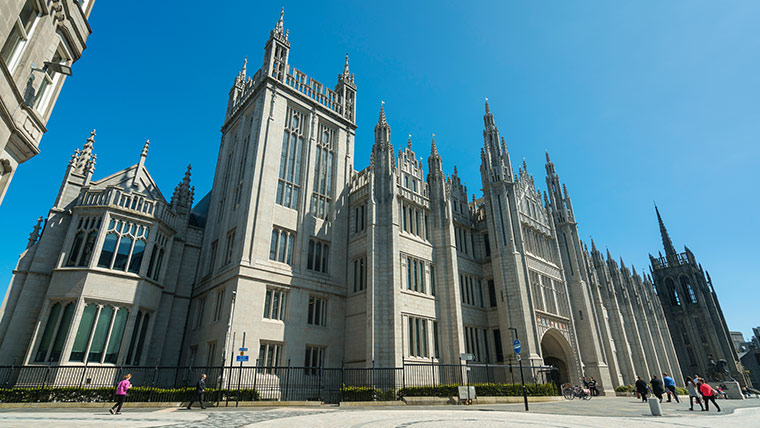 The stunning 19th century Marischal College gave Aberdeen its nickname of the 'Granite City'