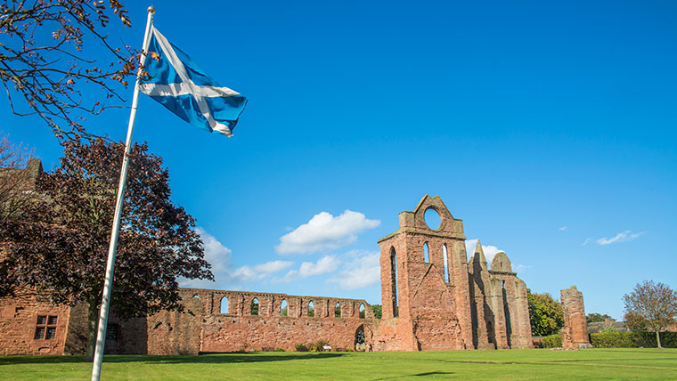 Arbroath Abbey is just one of the architectural delights in this 12th century fishing town