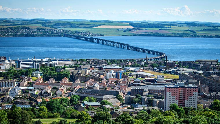 Nestled on the Firth Of Tay estuary, Dundee is renowned as Scotland's sunniest city