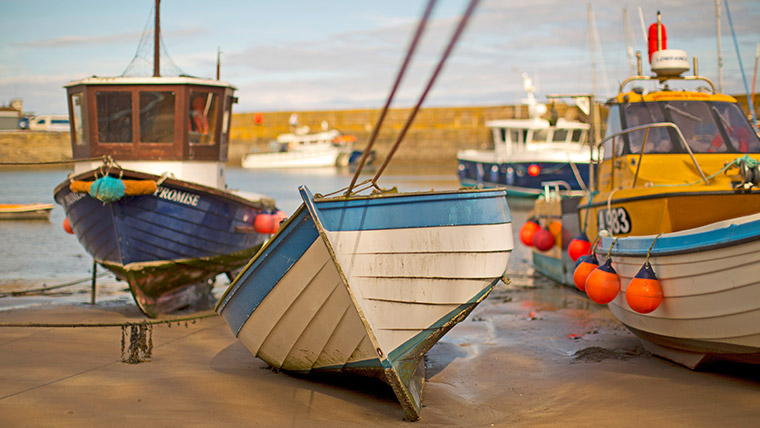 The pretty harbour town of Stonehaven is a perfect place to get away from it all