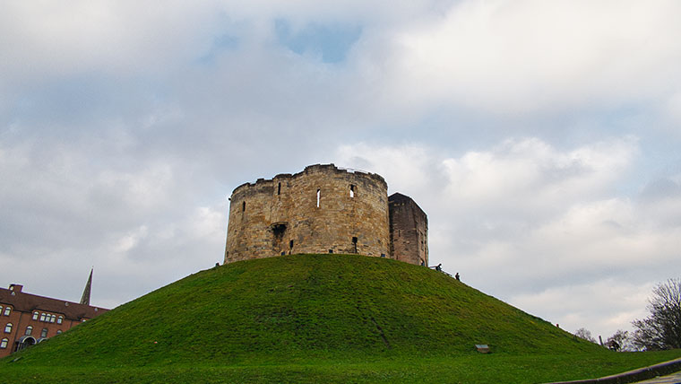 York Castle was built by the Normans two years after their big win at Hastings