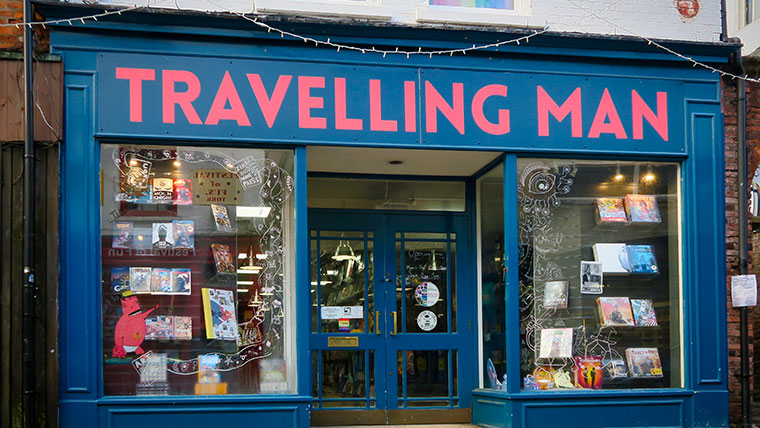 Travelling Man is an incredibly friendly and well-stocked comic shop on Goodramgate