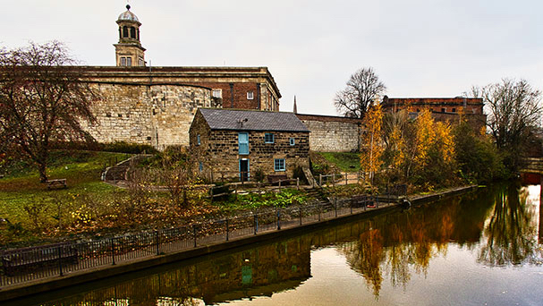 The Mill on the Foss – Raindale Mill is a restored mill brought here in 1960 from the North York Moors