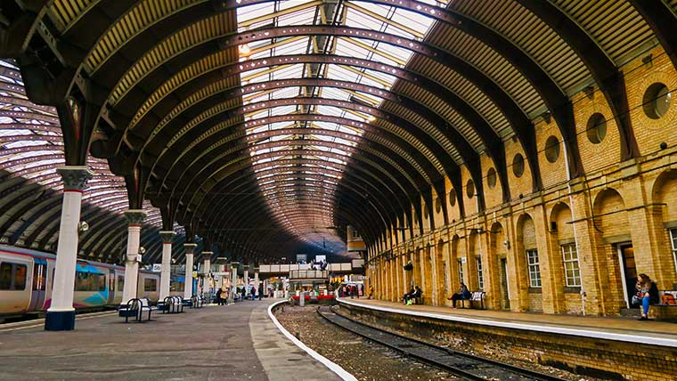 York Station's glass and steel roof was built in 1877