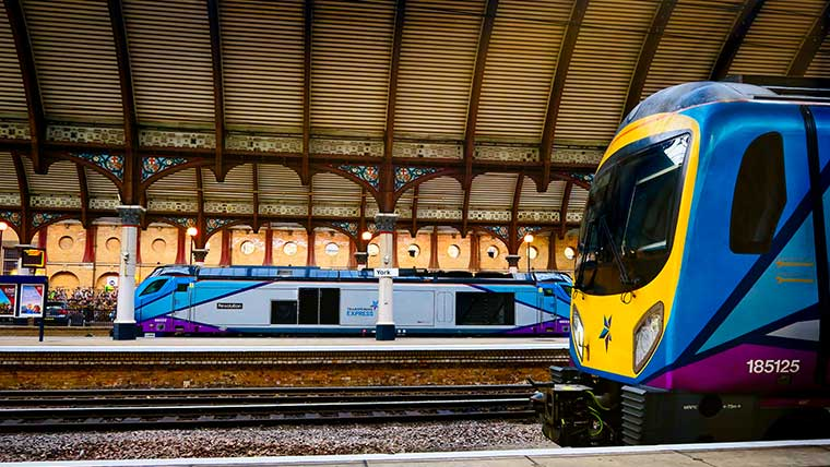 TransPennine Express trains in York Station