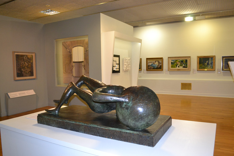 Fallen Warrior by Henry Moore at the Huddersfield Art Gallery