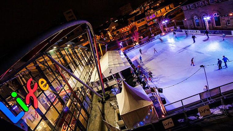 Skating at Life Newcastle