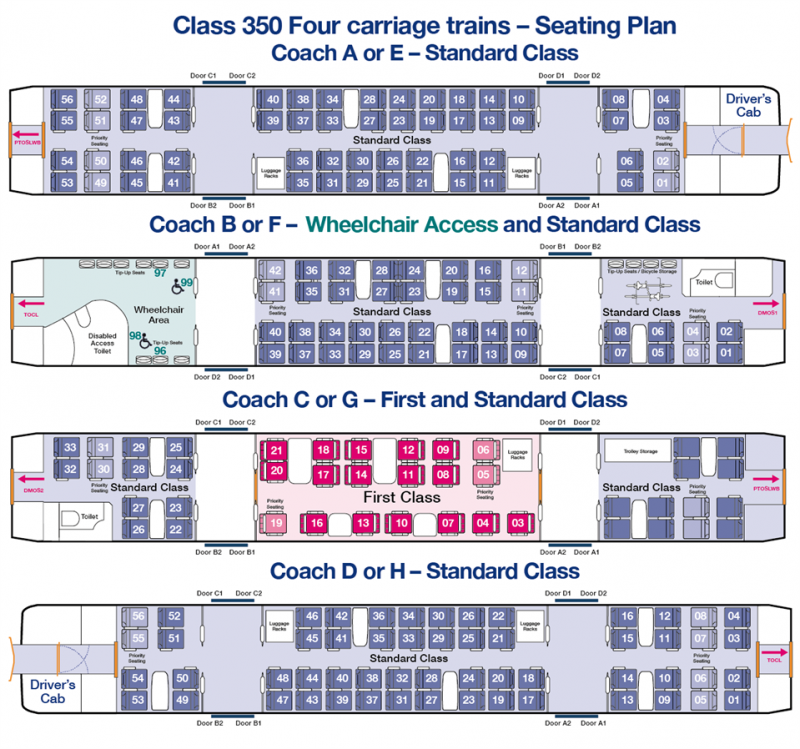 Train Seating Plans Download Plans First Transpennine