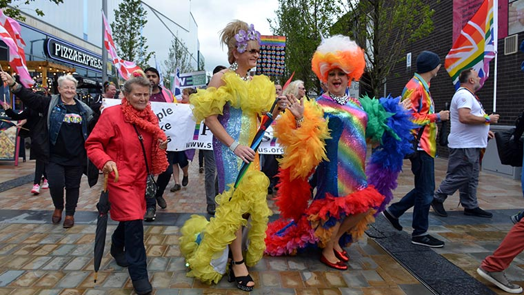 Stockport Pride march