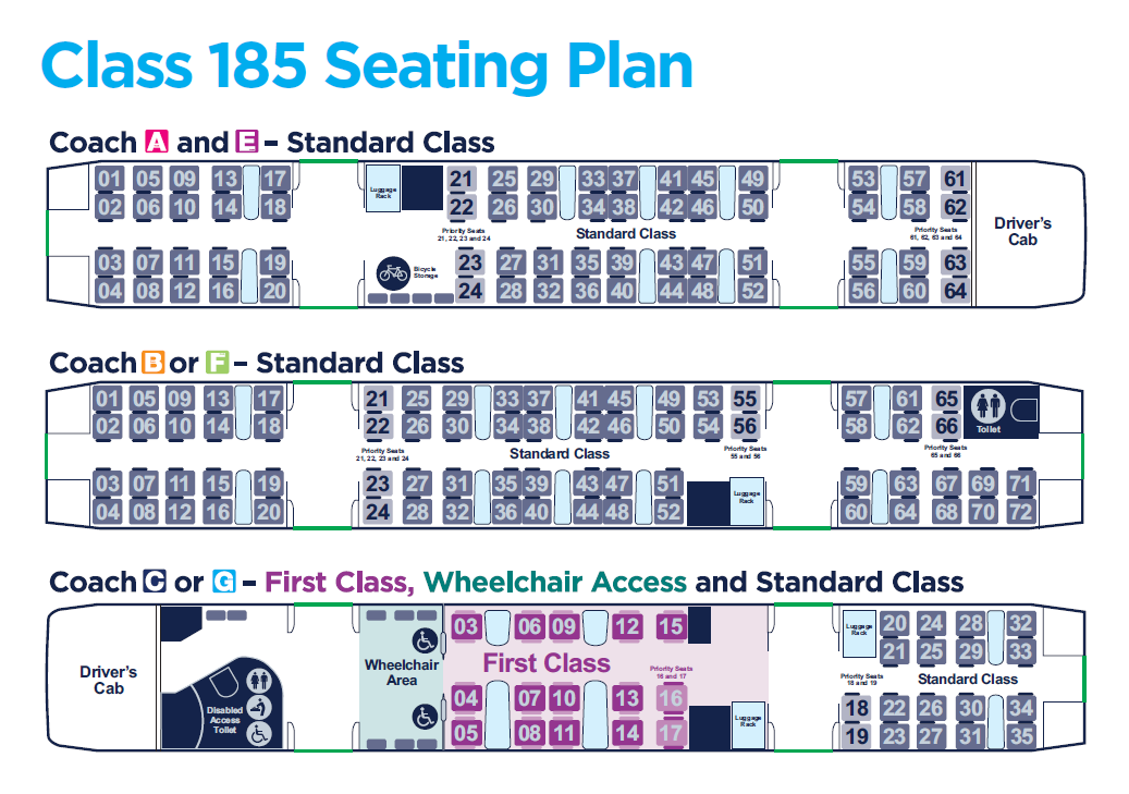 185 Seating Plan