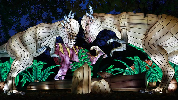 This year's theme for Edinburgh's Giant Lanterns spectacular is Lost Worlds