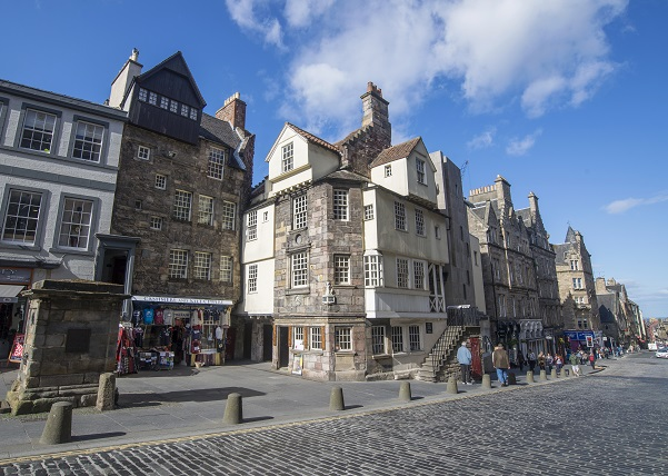 Scottish Storytelling Centre John Knox House on the Royal Mile, Edinburgh